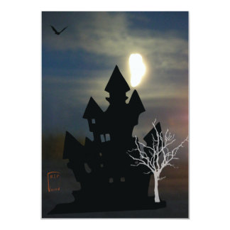 Haunted House Halloween Custom Announcement