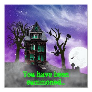 Haunted House Halloween Invitation
