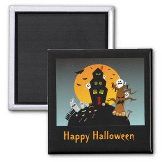 Haunted House Halloween Magnet