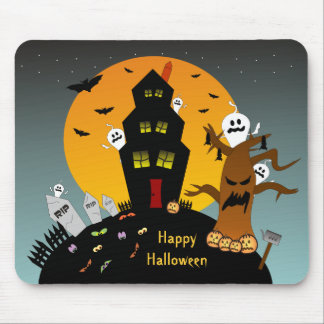 Haunted House Halloween Mousepad