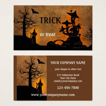 Professional Business Haunted House Halloween Party Business Card
