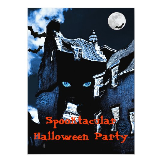 Haunted house Halloween party Card