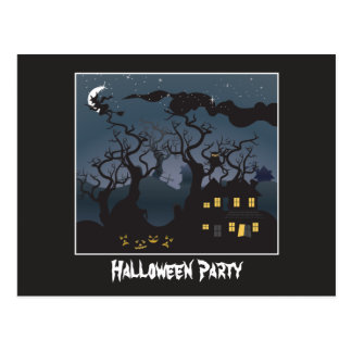 Haunted House Halloween Party Invitation Post Card
