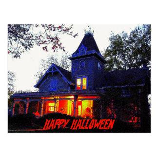 Haunted House Halloween Party Invitation Postcard