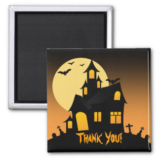 Haunted House Halloween Party Thank You Magnet