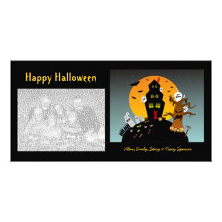 Haunted House Halloween Photo Cards