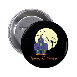 Haunted House Halloween Pin / Badge