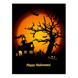 Haunted House Halloween Postacard Postcard