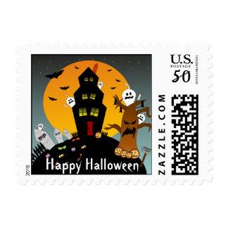 Haunted House Halloween Postage