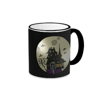 Haunted House Halloween Ringer Coffee Mug