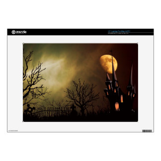 Haunted House Halloween Scene Decal For Laptop