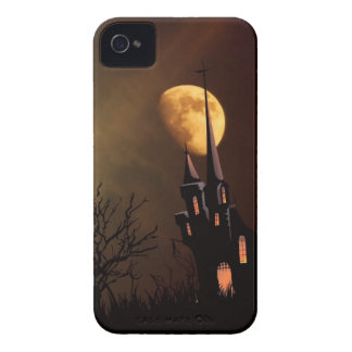 Haunted House Halloween Scene iPhone 4 Case
