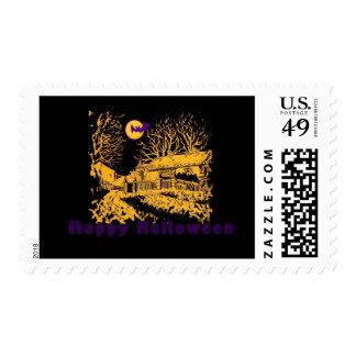 Haunted House Halloween Stamp