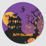 Haunted House Halloween Stickers