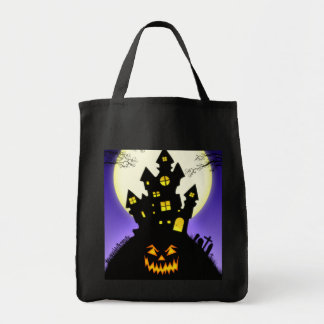 Haunted House Halloween Tote Bag