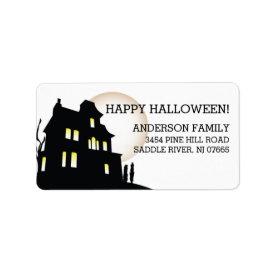 Haunted House Happy Halloween Return Address