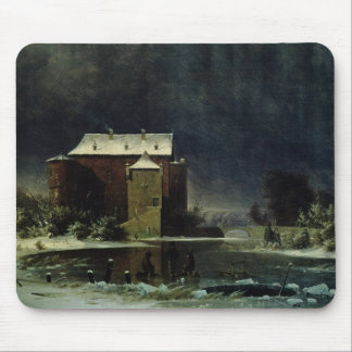 Haunted House in the Snow, 1848 Mouse Pad