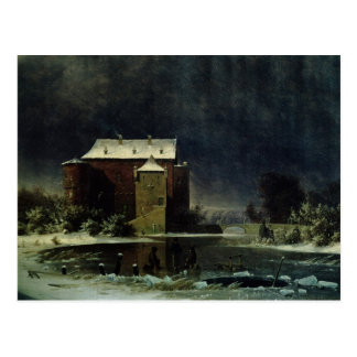 Haunted House in the Snow, 1848 Postcard