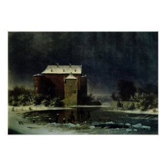Haunted House in the Snow, 1848 Posters