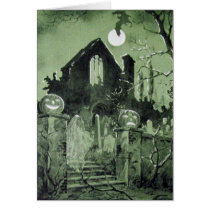 Haunted House Jack O' Lantern Ghost Bat