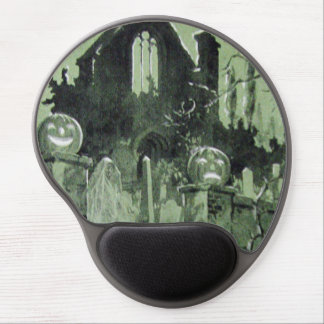 Haunted House Jack O' Lantern Ghost Gel Mouse Pad