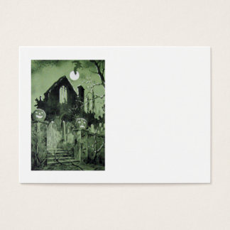 Haunted House Jack O' Lantern Ghost Moon Business Card