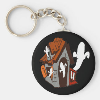 haunted house key chain