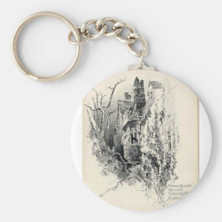 Haunted House Keychain