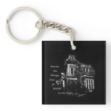 Halloween Themed Haunted House Keychain