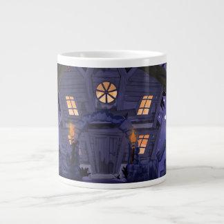 haunted house large coffee mug