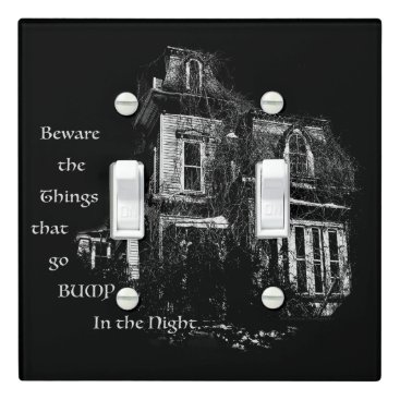 Halloween Themed Haunted House Light Switch Cover