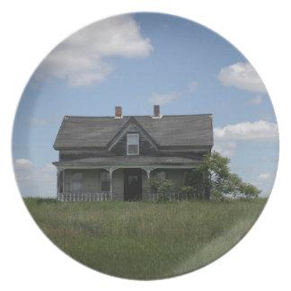 Haunted House Melamine Plate