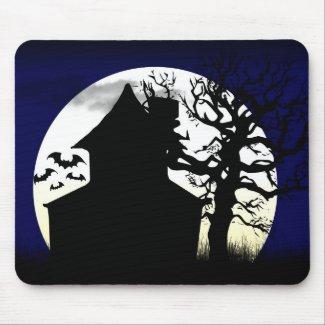 Haunted House Moonlight Mousepad mousepad