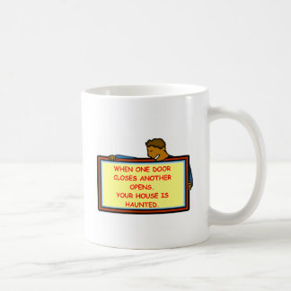 haunted house classic white coffee mug