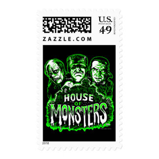 Haunted House of Monsters Postage Stamps