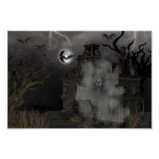 Haunted House Oh my Poster