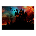 Haunted House on a Hill Greeting Card