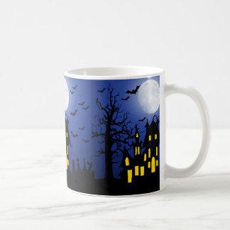 Haunted House on a Scary Night Coffee Mug