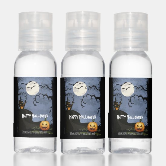 Haunted House on Hill Party Favors Hand Sanitizer
