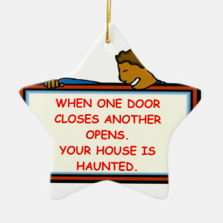 haunted house Double-Sided star ceramic christmas ornament