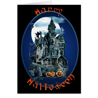 Haunted House Oval Lettered Card