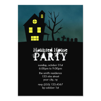Haunted House Party Invitations