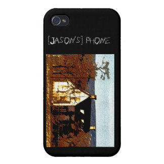Haunted House Personalized Halloween iPhone 4/4S Case