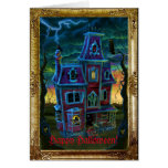 Haunted House Portrait Greeting Card