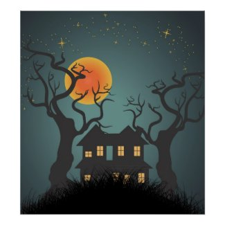 Haunted House Poster print