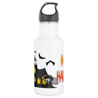 Haunted House Reaper Stainless Steel Water Bottle