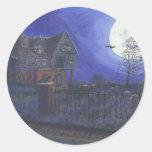 Haunted House Round Sticker