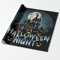 Haunted House, Scary Halloween Night Wrapping Paper