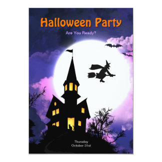 Haunted House Scary Halloween Party 5x7 Paper Invitation Card