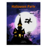 Haunted House Scary Halloween Party Poster